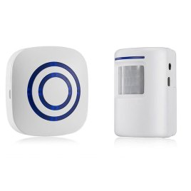 Wireless Infrared Motion Sensor Doorbell Sri Lanka Infrared Motion Detector Entry Door Bell Alarm with Receiver & Transmitter 220V EU/US Plug