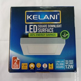 12 Watts Surface Panel LED Light ? Square Cool White – 2 Years Warranty – Kelani Cable
