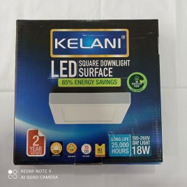 18 Watts Surface Panel LED Light ? Square Cool White – 2 Years Warranty – Kelani Cable