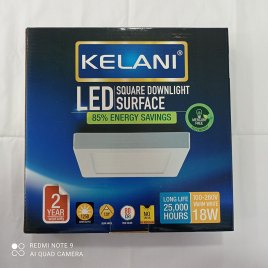 18 Watts Surface Panel LED Light ? Square Warm White – 2 Years Warranty – Kelani Cable
