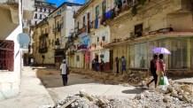 Centro Habana, la façade reste jolie pendant les travaux