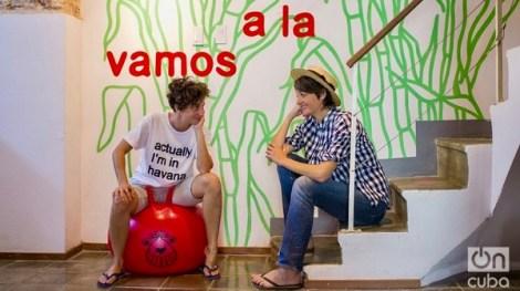 Clandestina : Idania Del Rio et Leire Fernandez. Photo OnCuba, droits réservés.