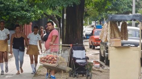 La Havane, vente de pommes à l'heure du goûter, Avenida 25, 2016