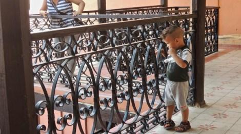 Joli travail de ferronnerie au balcon de la Casa Dranguet.