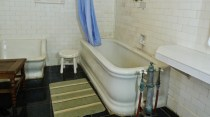 La plus belle baignoire du monde dans une maison de Trinidad.