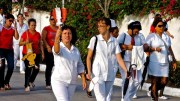 Les infirmières au défilé du 1er mai, Santa Clara.