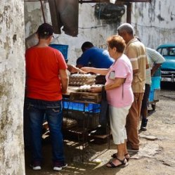 Comment acheter des œufs en douce dans Centro Habana, 2014.