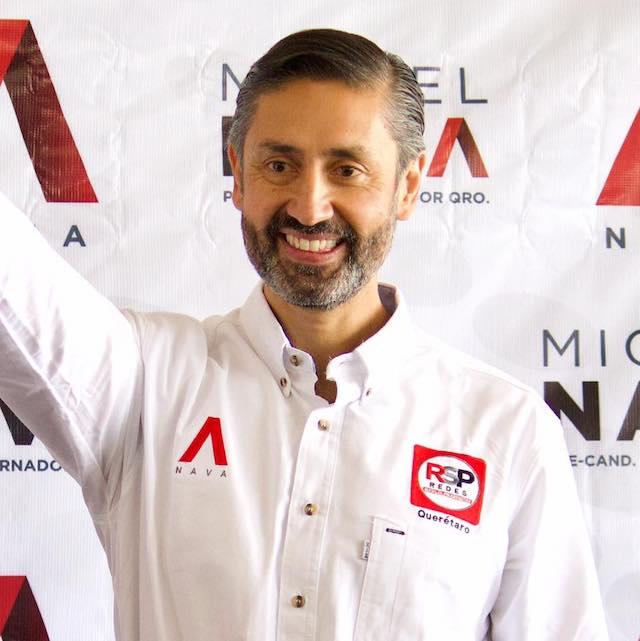Miguel Nava, uno de los candidatos a gobernador en Querétaro
