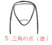 逆三角の爪