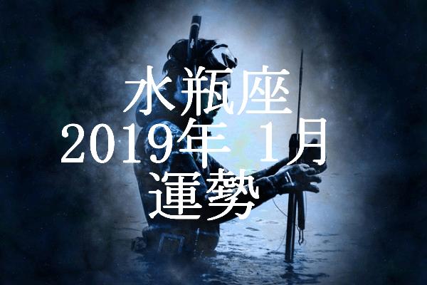 水瓶座 2019年1月 運勢