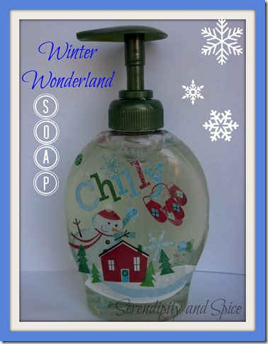 Winter Wonderland Soap Dispenser Tutorial