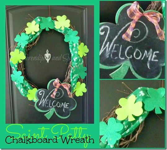 St. Patrick's Chalkboard Wreath…a wreath for all seasons