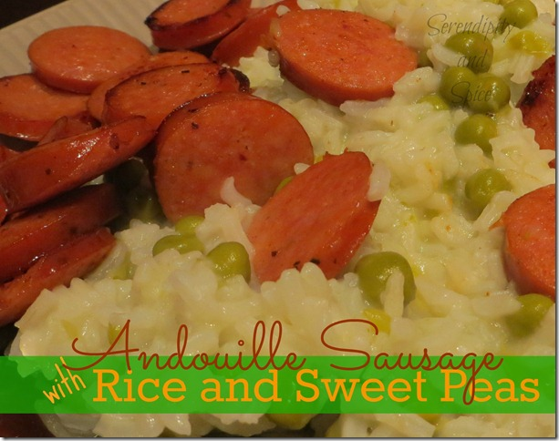 Andouille Sausage with Rice and Sweet Pea Recipe