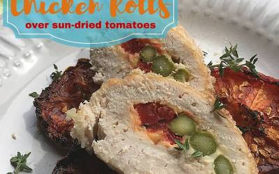 Stuffed Chicken Rolls over Sun Dried Tomatoes Recipe