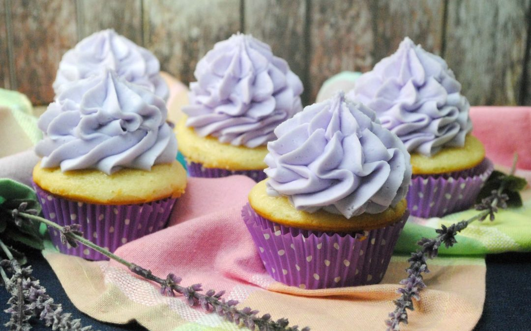 Luscious Lavender Cupcakes – #SweetandSouthern