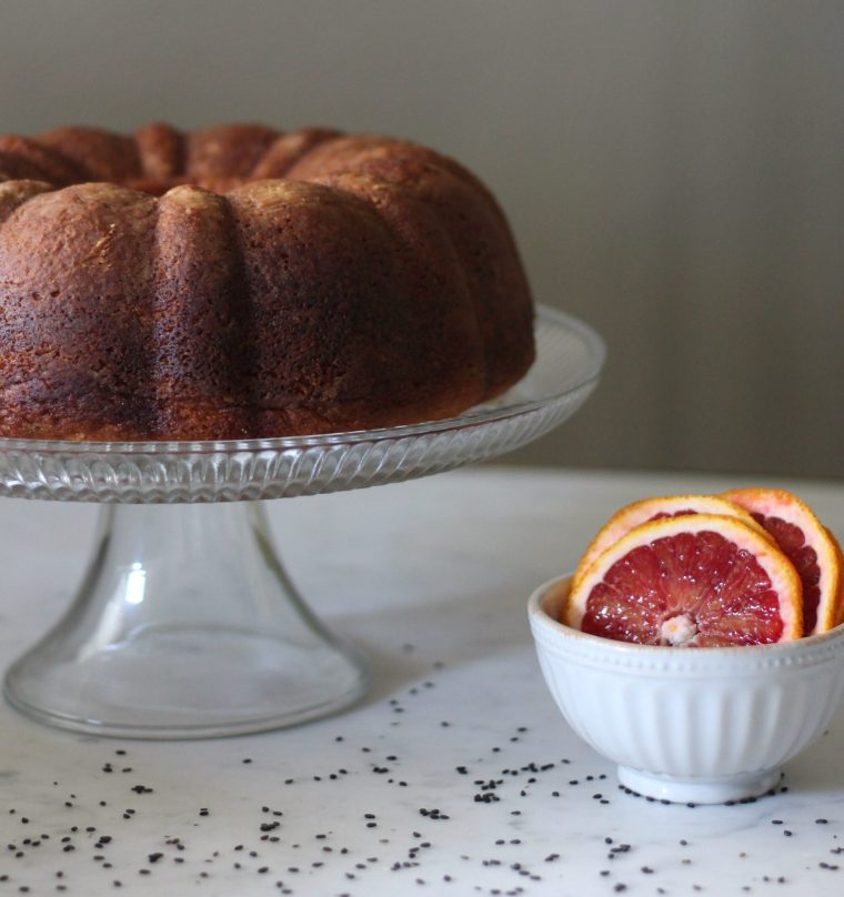 Blood Orange & Black Sesame Pound Cake