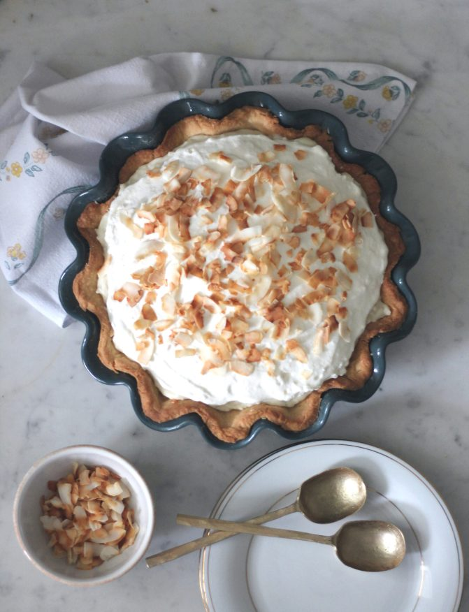 Coconut Cream Pie with Macadamia Nut Caramel | Serendipity by Sara Lynn