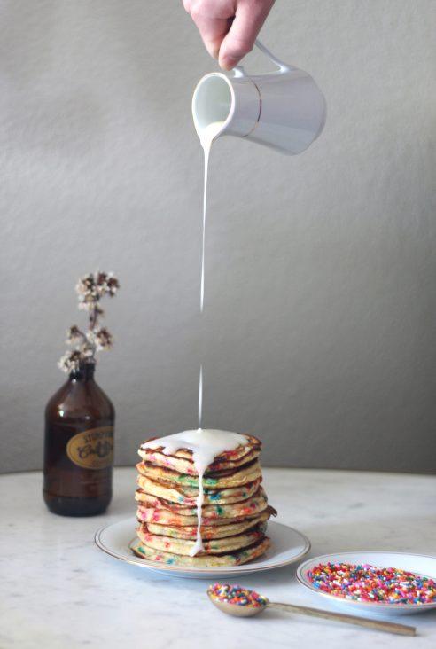 Funfetti Pancakes without Cake Mix