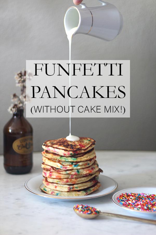 Fufetti Pancakes without Cake Mix