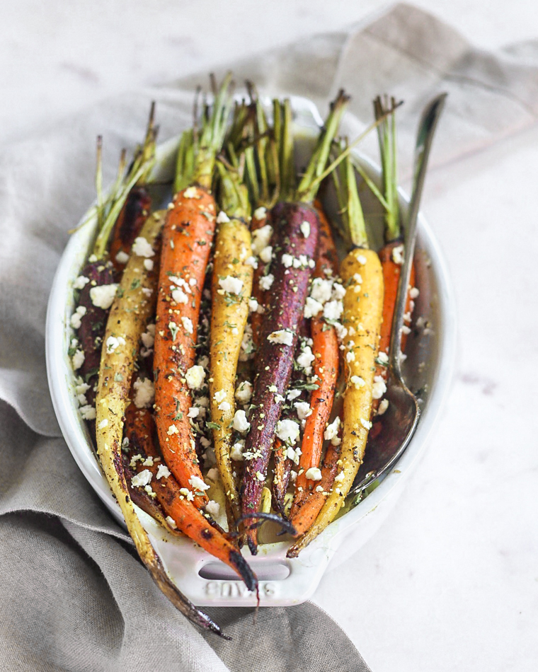 Turmeric & Za'atar Roasted Carrots with Feta
