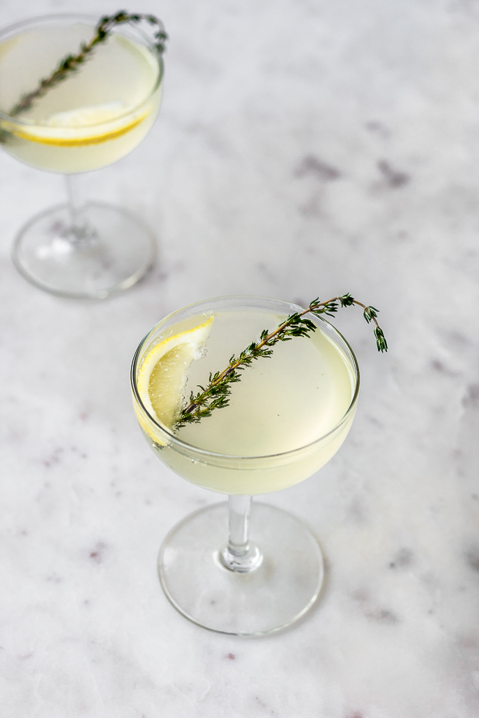 French 75 with Thyme | Serendipity by Sara Lynn