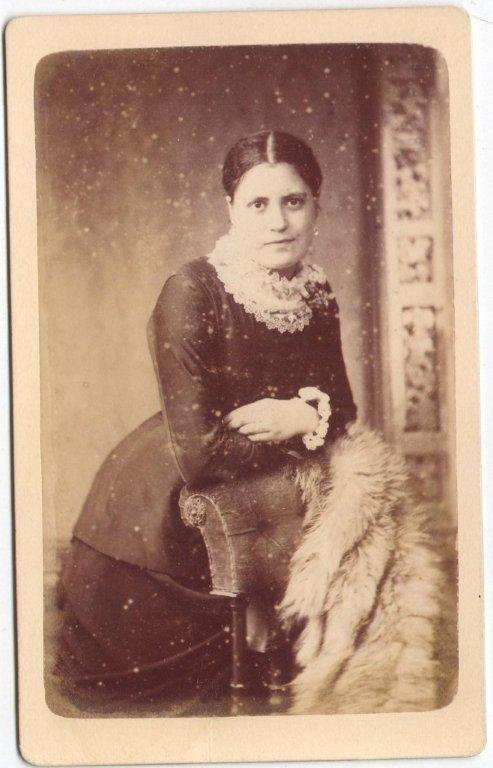 Victorian Portrait Leaning Woman With Fur The