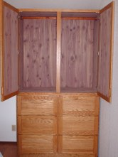 Armoire with aromatic cedar lining