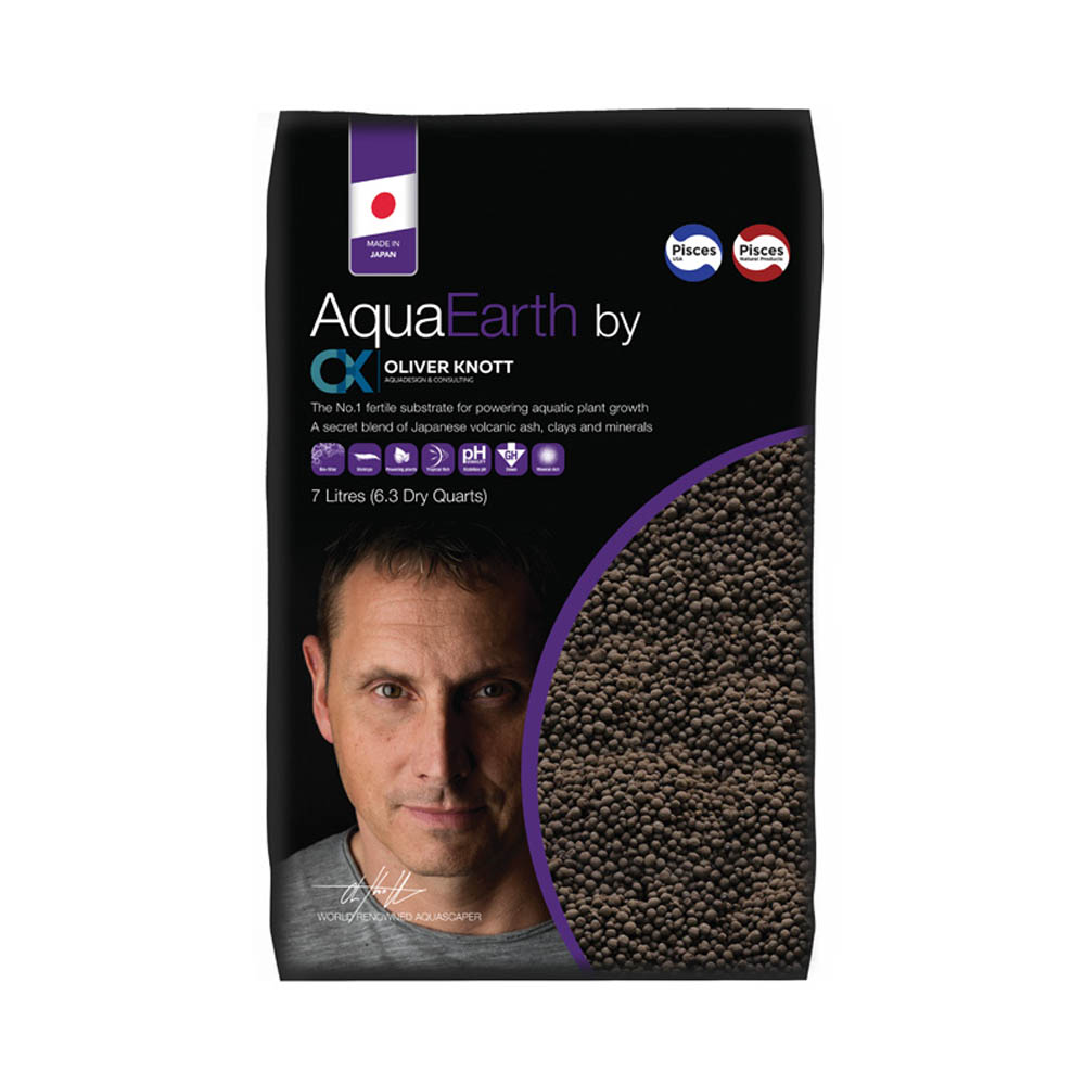 PISCES NATURAL PRODUCTS AquaEarth Fertile Substrate by Oliver Knott 7 Litres