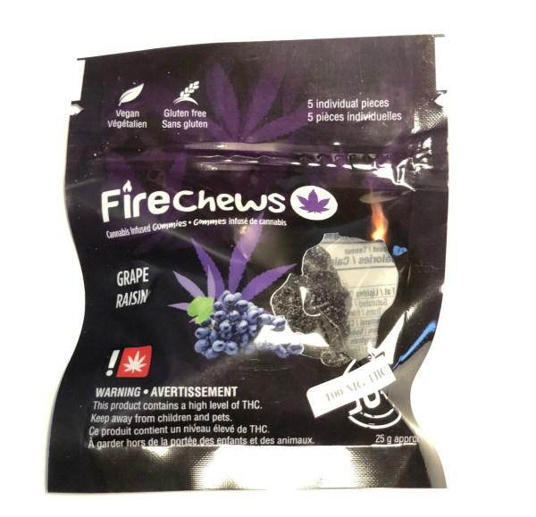 Fire Chews - Grape (100 MG THC) edibles Serene Farms Online Dispensary