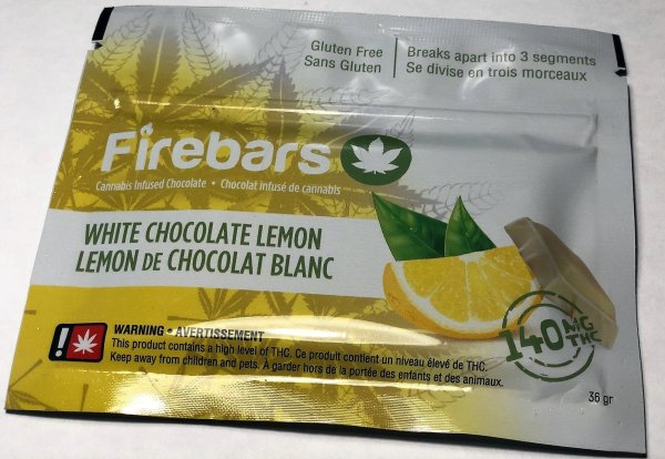 Fire Bars- White Chocolate Lemon (140 MG THC) edibles Serene Farms Online Dispensary