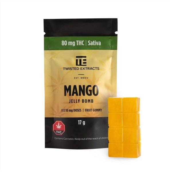 Mango Jelly Bomb (80mg THC) Serene Farms Online Dispensary