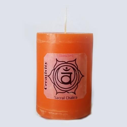 sacral Chakra Candles - Large