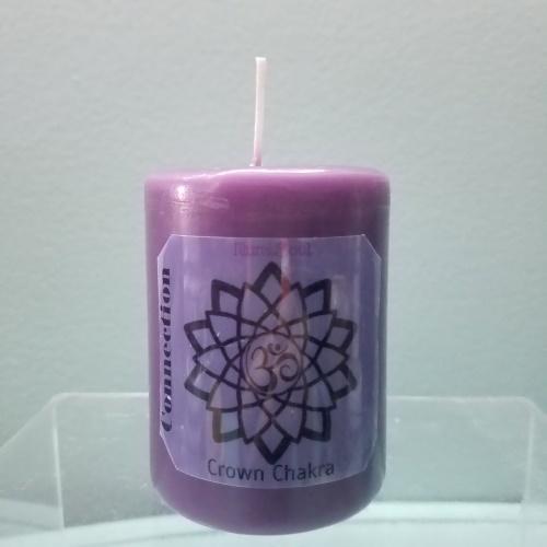 crown chakra candles medium