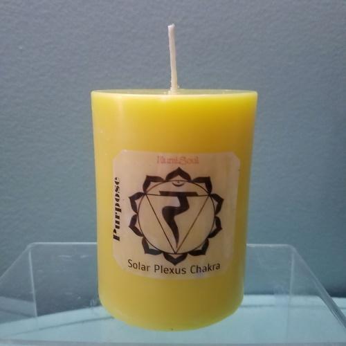 solar plexus chakra candles large