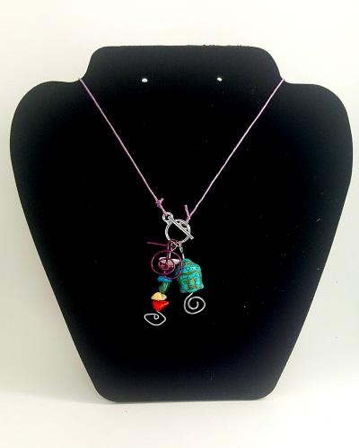 Buddha Lariat Charm Necklace