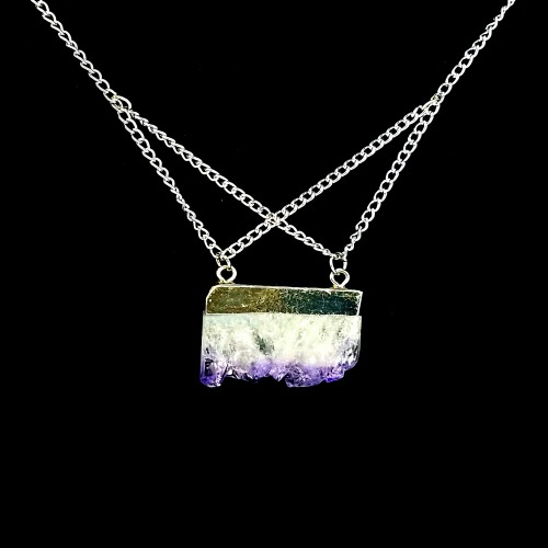 amethyst chunk necklace