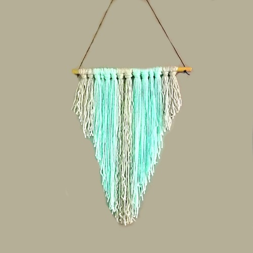 Teal Boho Wall Hanging