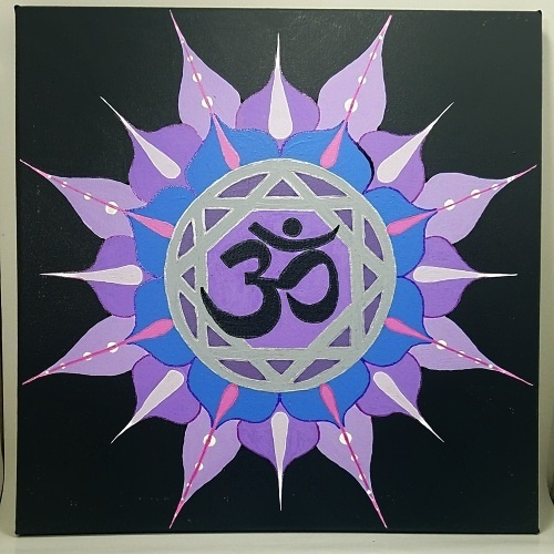 crown chakra symbol painting test