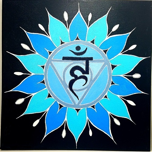 throat chakra symbol painting test