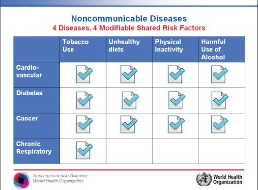 4 Diseases, 4 Modifiable Shared Risk Factors