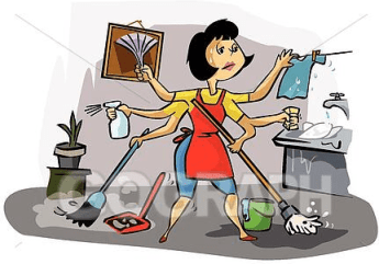 Busy Tired Housewife Mum