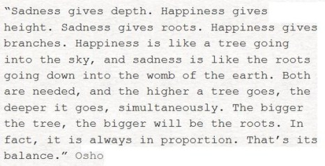 Happiness and sadness