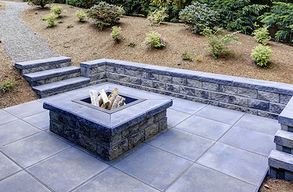 paver and custom fire pit
