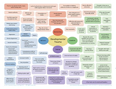 Developmental Trauma at a glance chart
