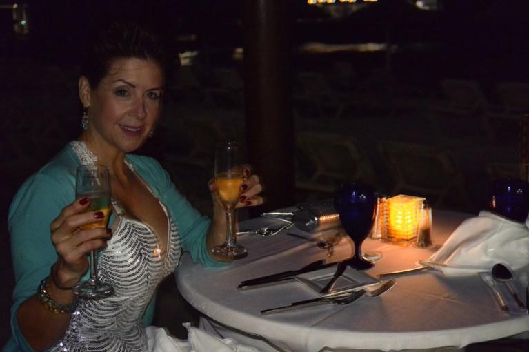 dining on beach