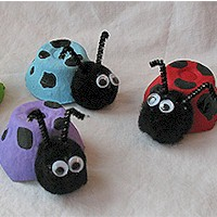 Egg Carton Lady Bugs Craft