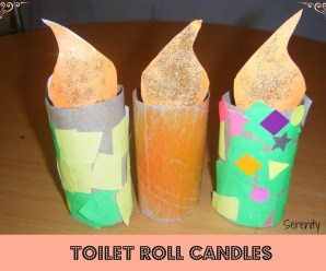 Toilet Roll Candles {kids craft}