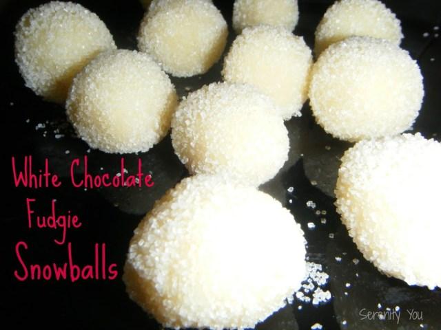 White Chocolate Fudgie Snowballs