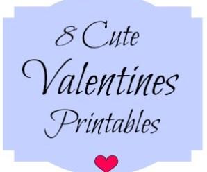 8 Cute Valentine's Printables