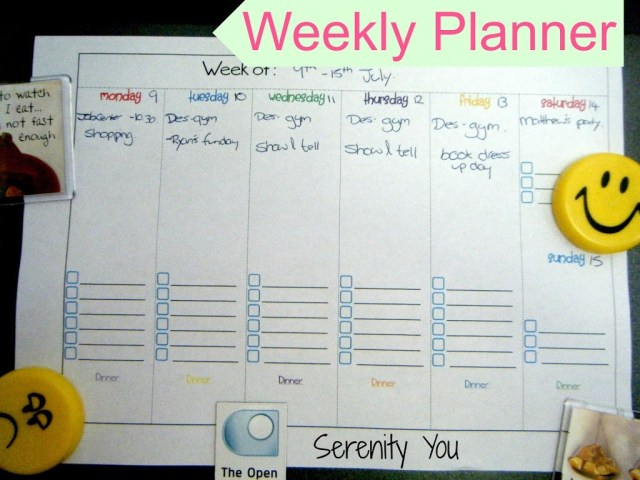 My Weekly Planner + Free Printable